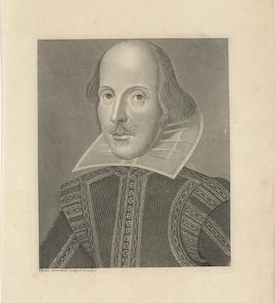 Portrait William Shakespeare by Martin Droeshout II (c. 1625-1650)